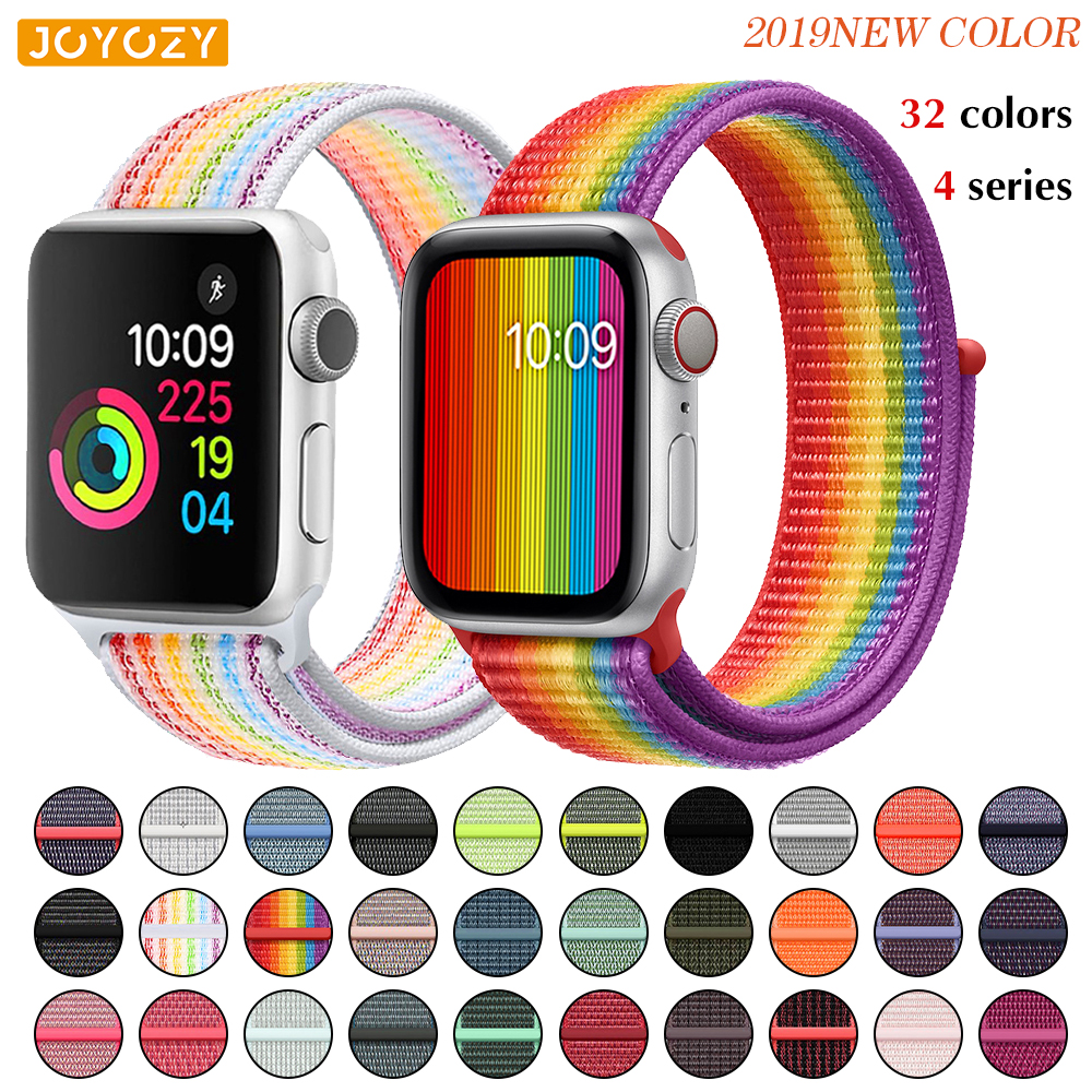 Nylon Sport Loop Soft Strap For Apple Watch 4/3/2/1 Breathable Replacement Watchbands For Apple Watch Band 38mm/40mm/42 Mm/44 Mm