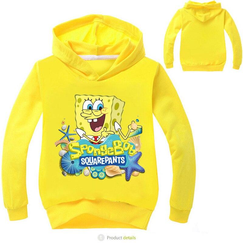 CHILDREN'S Sweater SpongeBob Cartoon Printed Childrenswear Children Hoodie CHILDREN'S Hoodie No7639