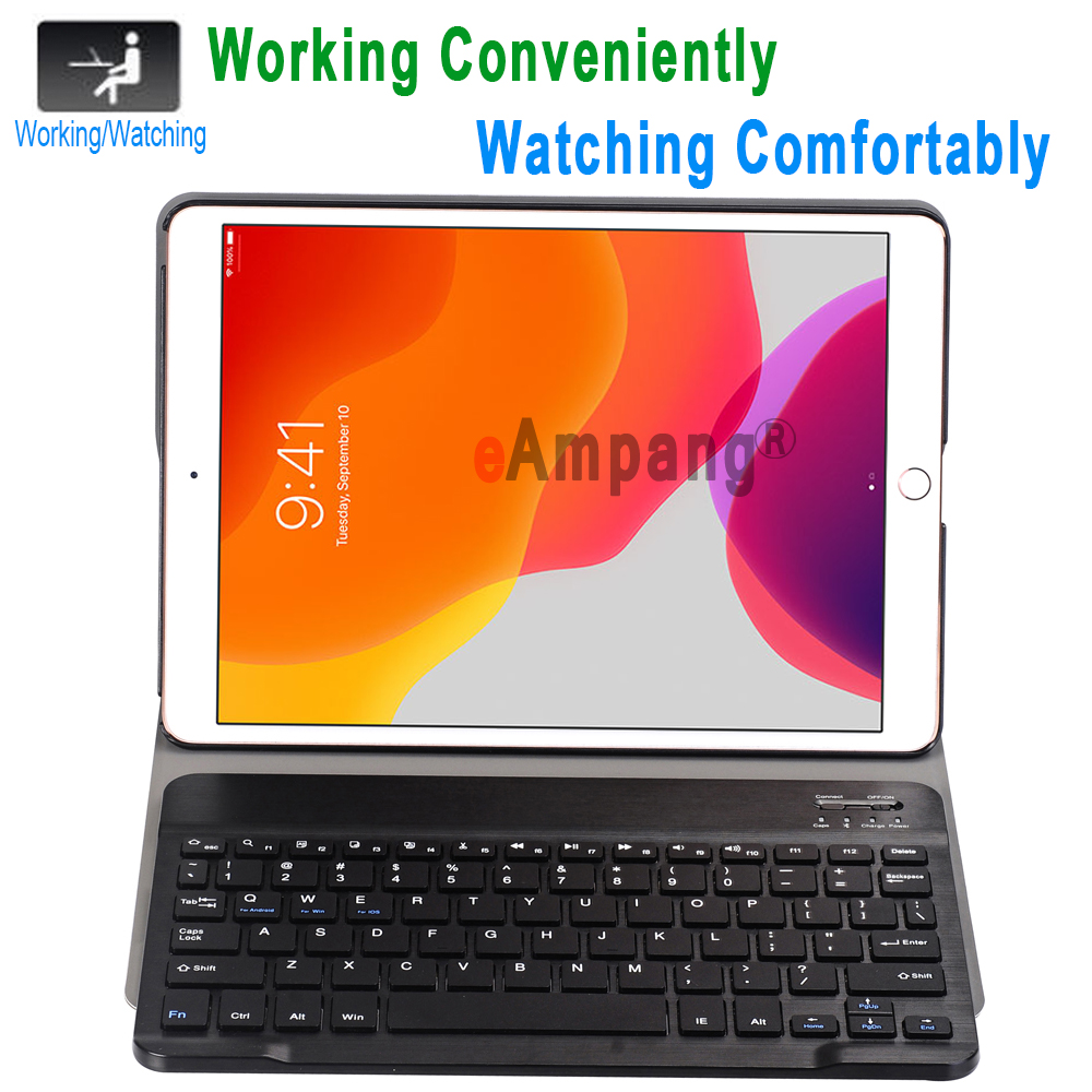iPad Generation A2198 for 7th A2200 iPad Case Bluetooth 3.0 Apple for 10.2 Case Keyboard