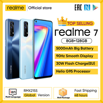 Realme 7 Global Version Smartphone 8GB RAM 128GB ROM Mobile Phones Helio G95 Gaming Phone 1