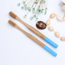 Bamboo Toothbrush Natural Eco-friendly Soft Bristle Blue Teeth Care Dental Cleaning the mouth tool Women Men TSLM1(China)