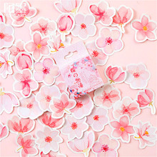 40pcs Kawaii Pink Cherry Scrapbook Sticker Scrapbooking Pads Paper Origami Art Background Paper Card Making DIY Scrapbook cheap