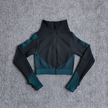 Yoga Top Vital Seamless Yoga Shirt Women Fitness Zipper Long Sleeve Workout Tops Gym Clothes