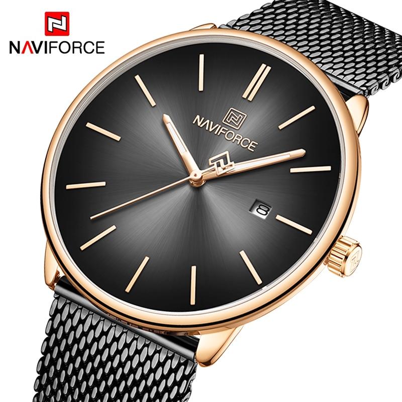 NAVIFORCE Lover's Watch Mens Watch Simple Luxury Quartz Wristwatch women Clock for Male Female Waterproof Couple Watches gifts