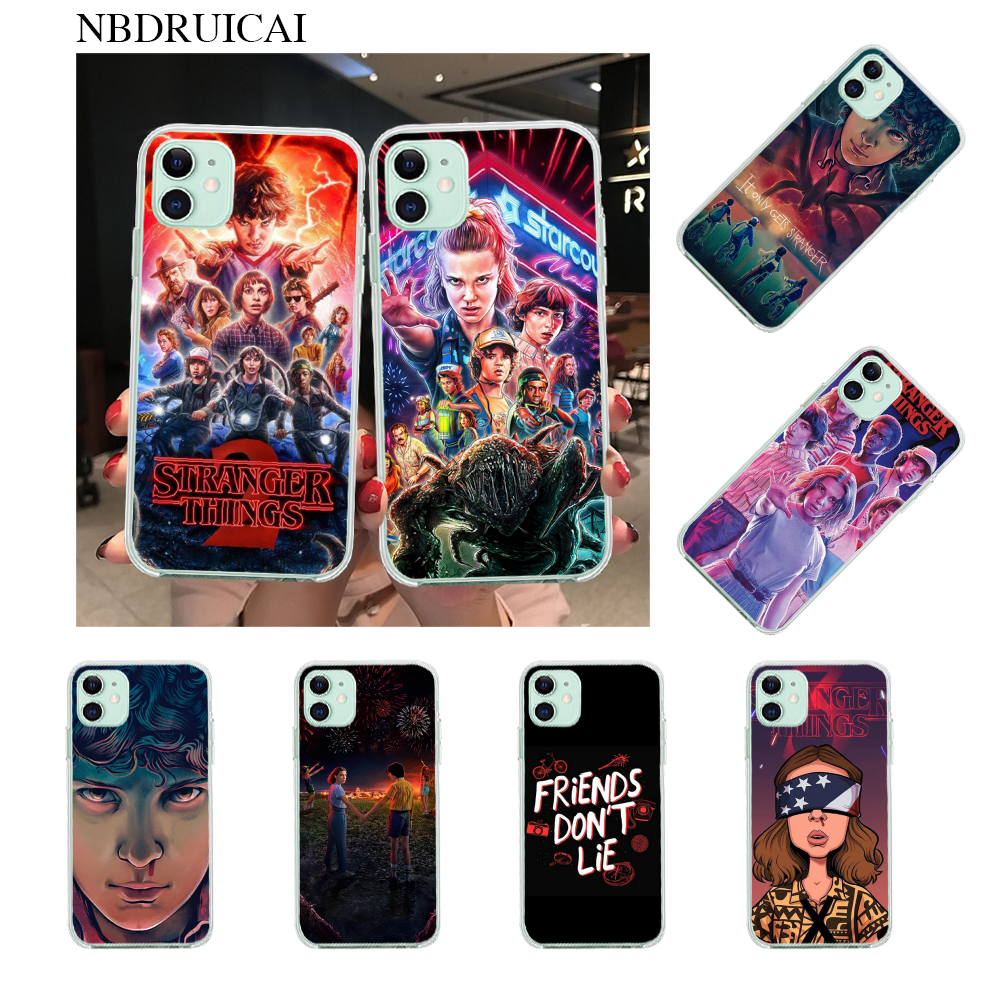 NBDRUICAI stranger things TPU Soft Silicone Phone Case Cover for iPhone 11 pro XS MAX 8 7 6 6S Plus X 5S SE XR cover