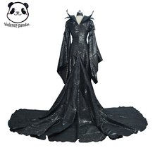 купить Adult Deluxe Maleficent Costume Evil Queen Cosplay Outfit Ladies Fancy Dress Women Halloween Party Cosplay Costume по цене 1041.45 рублей