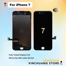 Lcd original para apple iphone 7 4.7 polegada com toque de vidro digitador assembléia screen display peças reposição