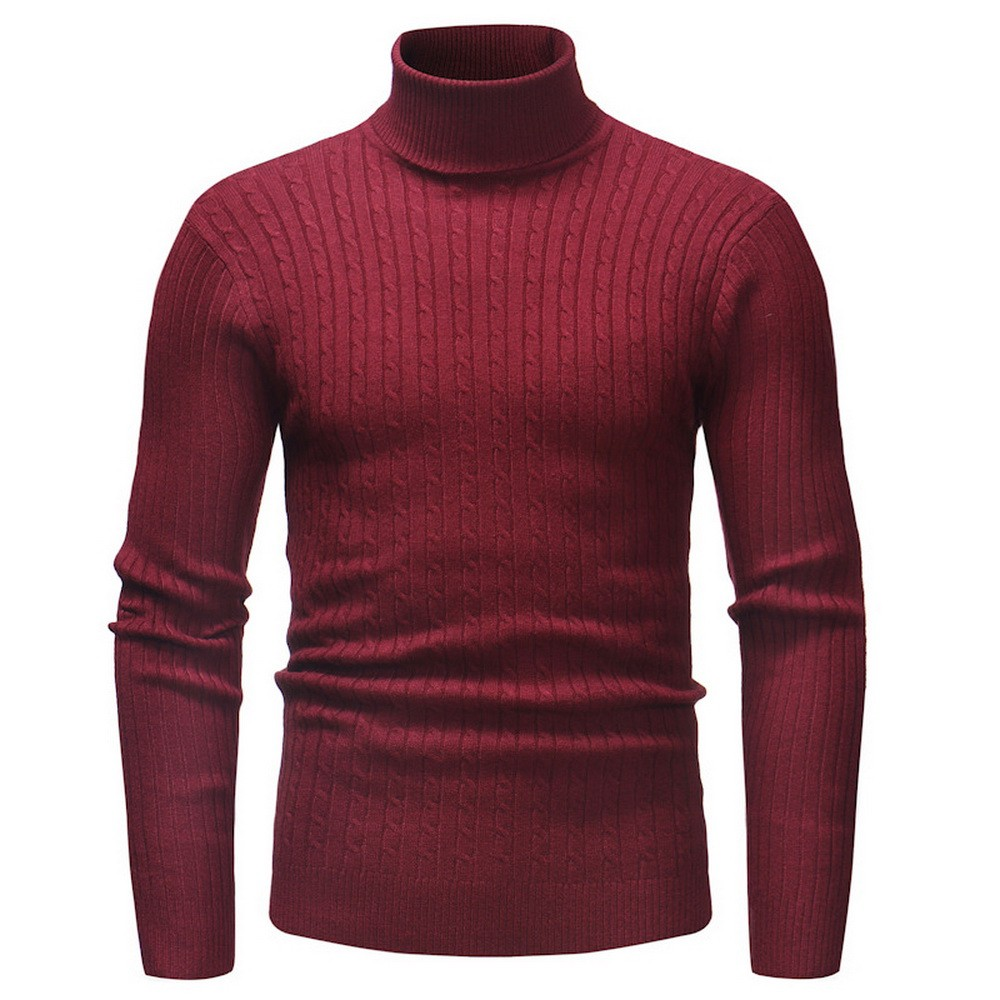 Winter Christmas  Plus Size Sweater Men Turtleneck Thick Warm Mens Sweaters Wool Pullover High  Neck Casual Men's Sweter