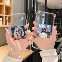 Fashion pretty Lana Del Rey custodia per telefono trasparente per iPhone 6 7 8 11 12 s mini pro X XS XR MAX Plus SE cover funda