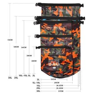 Image 5 - Outdoor Bag Camouflage Portable Rafting Diving Dry Bag Sack PVC Waterproof Folding Swimming Storage Bag for River Trekking