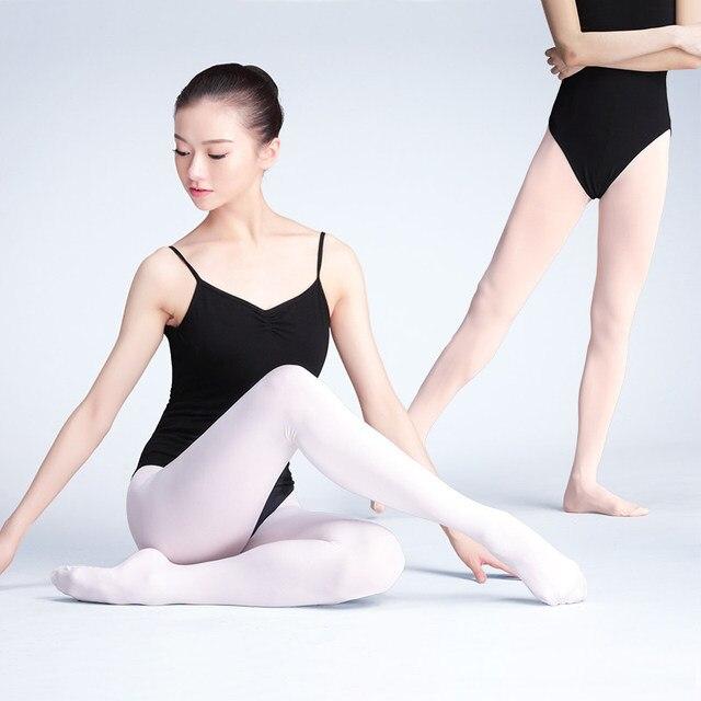 Meia calça collants de veludo feminina, meia legging para ginástica e dança 80d 90d 800d