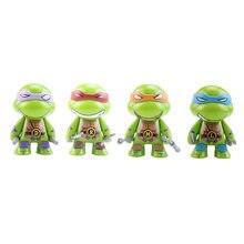 Mini tartaruga figura de ação dos desenhos animados tartaruga tartarugas brinquedos para crianças anime figura leo rafa mikey don boneca presentes aniversário