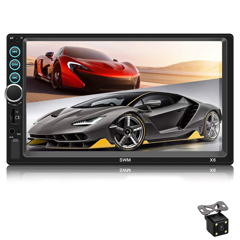Double Din voiture stéréo mise à niveau 7 pouces presse écran autoradio Mp5/4/3 lecteur Fm Radio vidéo Audio Compatible avec Bluetooth Supp