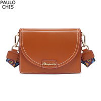 CHISPAULO PU leather Buckle design crossbody bags women small purse hand bag ladies Shoulder Messenger Bags Girl Flap