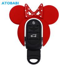 Abs caso chave do carro titular chaveiro inteligente remoto fobs protetor capa linda substituir escudo para bmw mini cooper f54 f55 f56 f57 f60