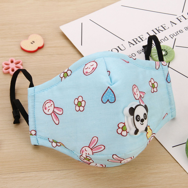 Children Cute PM2.5 Washable Mouth Mask With Valve Kids Anti Haze Dust Mask Nose Filter Face Muffle Bacteria Flu Respirator 5