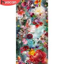HUACAN – peinture de diamant, bricolage, point de croix, fleurs, perceuse complète, Art, broderie, couture, décor de maison