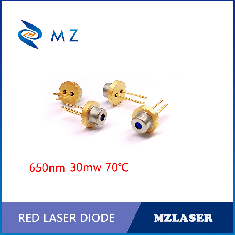 TO-18 Packaging Industrial 650nm 30mw Laser Diode 70degree
