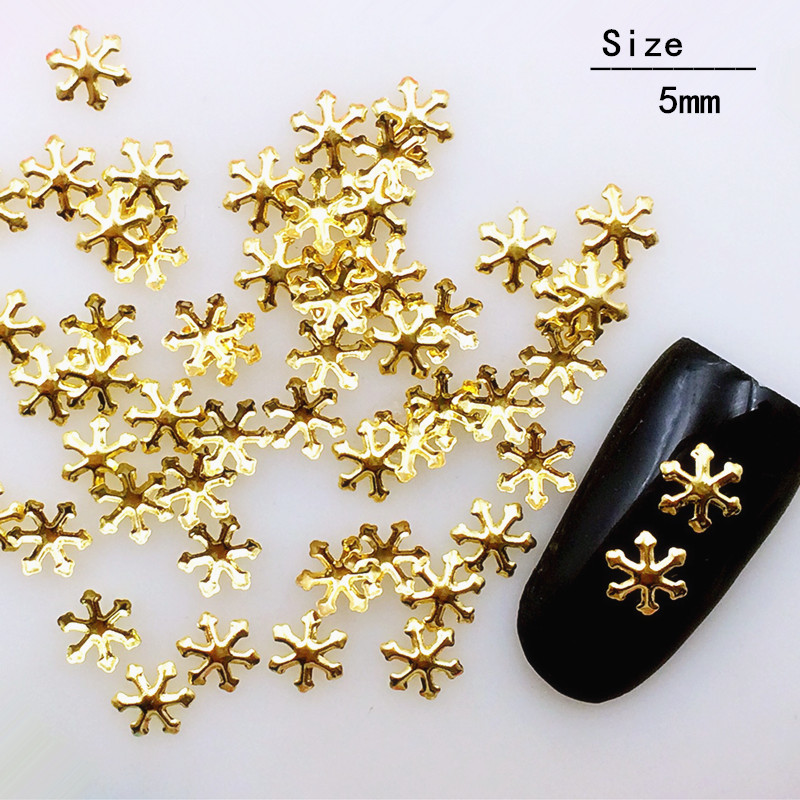 New Style Japanese-style Christmas Snowflake Metal Rivet Manicure Nest Nail Jewelry Alloy Copper Sheet Nail Sticker