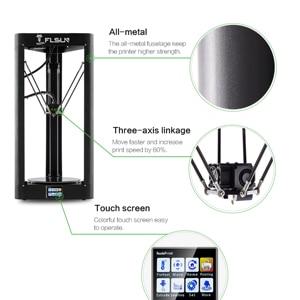 Image 4 - 3D Drucker Flsun QQ S PRO Delta Kossel Auto Level Verbesserte Lebenslauf Pre montage TFT 32bits bord impressora 3d Drucker