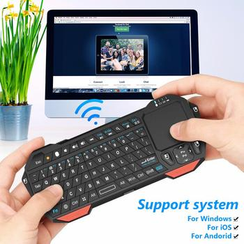BT05 Wireless Keyboard Mini Bluetooth Wireless Keyboard with Touchpad for iOS Android Smart TV PC Backlit Portable with Touchpad dishykooker wireless keyboard mini 2 4ghz wireless mini keyboard with touchpad for pc android smart tv box ky
