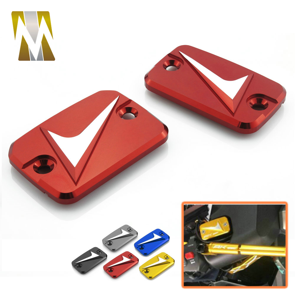 One Pair Motorcycle CNC <font><b>AK</b></font> <font><b>550</b></font> Front Brake Fluid Reservoir Cover Cap Protecter For <font><b>KYMCO</b></font> AK550 <font><b>AK</b></font> <font><b>550</b></font> 2017 2018 image
