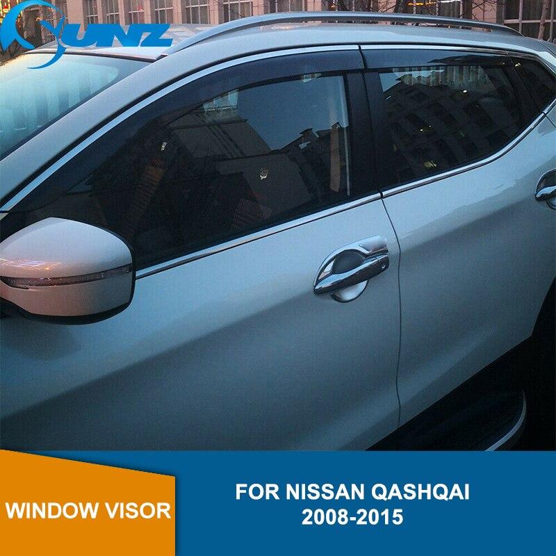 Window Visor for NISSAN QASHQAI 2008-2015 side window deflectors rain guards SUNZ