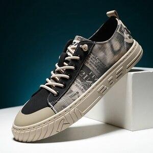 Image 2 - Vastwave tecido de lona homem tênis sapatos deslizamento resistência outono sapatos casuais masculinos de luxo apartamentos sapatos masculinos vulcanize