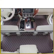 цена на lsrtw2017 leather car floor mats for nissan patrol y61 2010 2008 2009 2007 2006 2005 2004 2003 2002 2001 carpet mat accessories