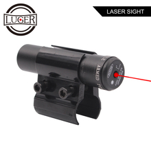 LUGER Tactical Red Dot Laser Sight Scope With Mount for Pistol Picatinny Rail Rifle For Airsoft Hunting Optics Scope hunting scope tactical acog 1x32 red dot sight scope optic reflex riflescope with 20mm picatinny rail for rifle m4 m16 airsoft