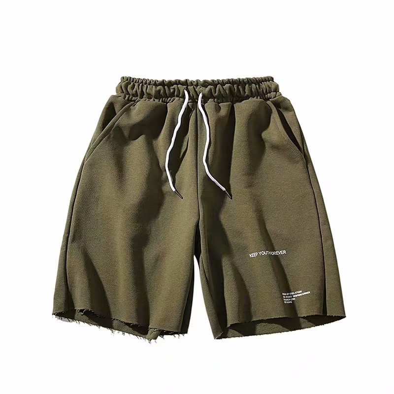 2020 Summer Mens Casual Shorts Fashion Pure Cotton Street Attire Letter Printing Jogging Sports Loose  Wetlook Sexy Men Shorts