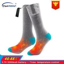 Зимние 3,7 V аккумуляторные электрические носки с подогревом, носки с эластичным здоровьем для ног, теплые носки для катания на лыжах, спорта на открытом воздухе