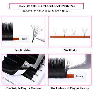 Image 4 - Easy Fanning Eyelashes for Extensions Fan Easy Eyelash Bloom Flare Eye Lash Russian Eyelash Extensions Volume Cilia Silk Lash