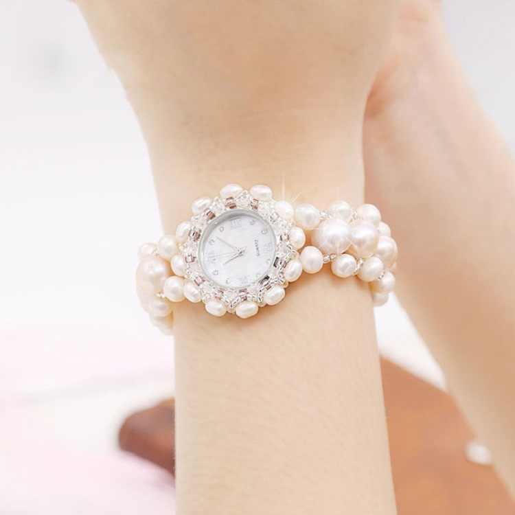 Mode Nature perle bijoux montre à Quartz pour femmes montre-bracelet adultes adolescents étudiants montre-bracelet cadeaux