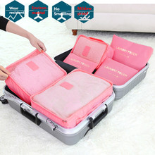 6PCs/Set Travel Storage Bag Big Capacity Clothes Pouch Luggage Organizer Waterproof Case Portable