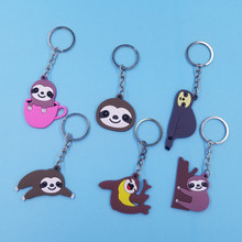 Cute Cartoon Animal Sloth Bradypod Keychain Women Backpack Bagschool Bag Folivora Decoration Children Gift Car Keyring KC231