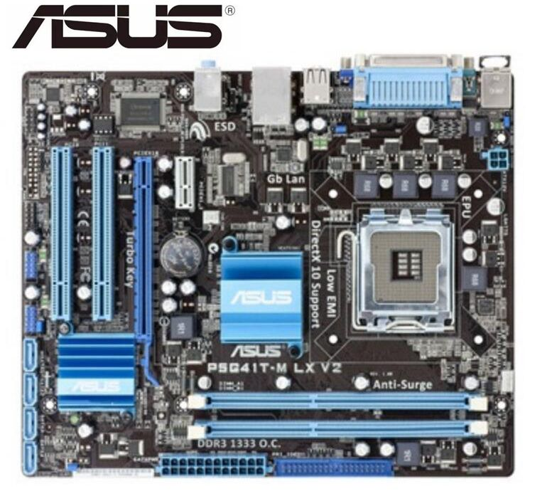 Asus Lga 775 Ddr3 8gb G41 P5G41T-M Used USB2.0 VGA Desktop LX V2 Original title=