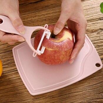 לסביבה Pu קרמיקה סכין סט עם פירות/ירקות קולפן קרש חיתוך פלסטיק חיתוך בלוקים ורוד