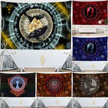 Vikings Tapestry Tarot Meditation Wall-Hanging Mysterious Psychedelic Living-Room Runes