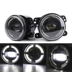 "Image 1 - 2X4 ""Zoll Runde LED Nebel Stoßstange Lichter Off Road Nebel Lampen für Jeep Wrangler JK Dodge Journey Magnum Ladegerät"