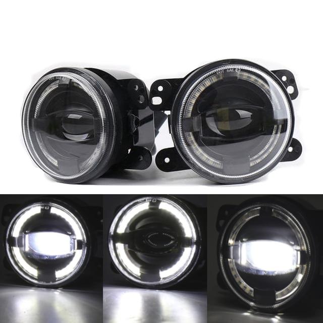 "2X4 ""Zoll Runde LED Nebel Stoßstange Lichter Off Road Nebel Lampen für Jeep Wrangler JK Dodge Journey Magnum Ladegerät"