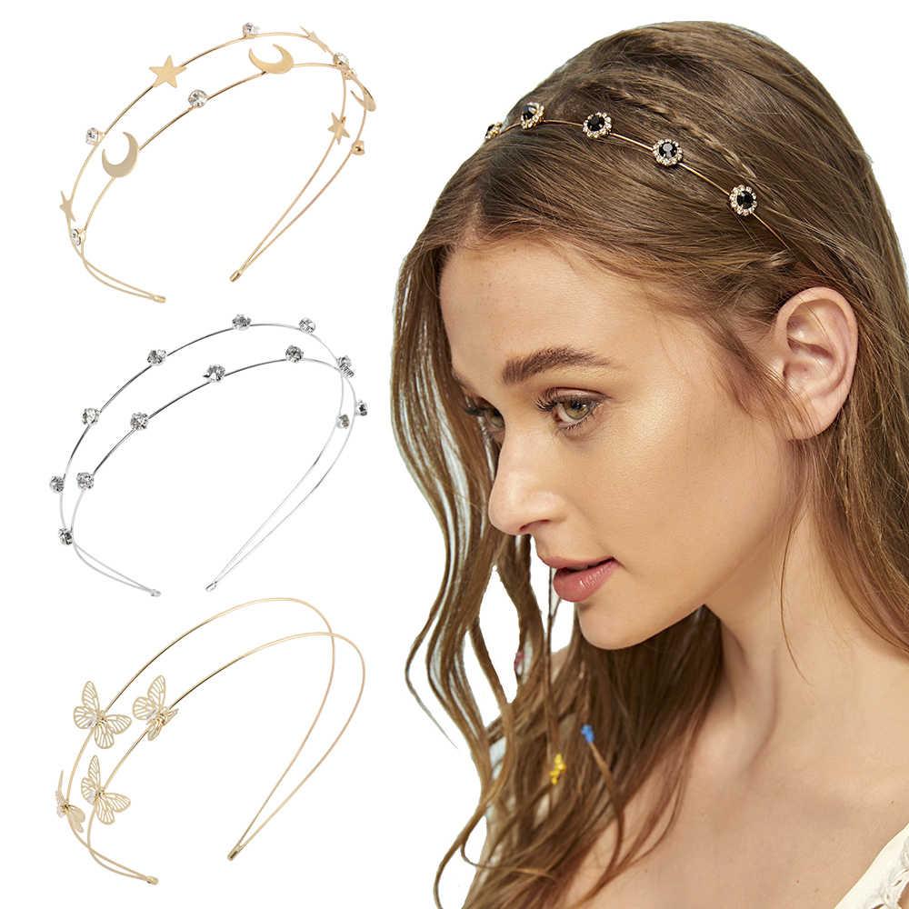 Women/'s Crystal Rhinestone Headband Hairband Hair Hoop Teeth  Hair Accessories