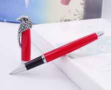 Fuliwen Owl Rollerball Pen Eagle Head Clip with Smooth Refill , Unique Style Vivid Red Collection Gift Pen for Office Business fuliwen yellow exquisite rollerball pen with refill fashion pattern unique clip quality ink writing pen for office business
