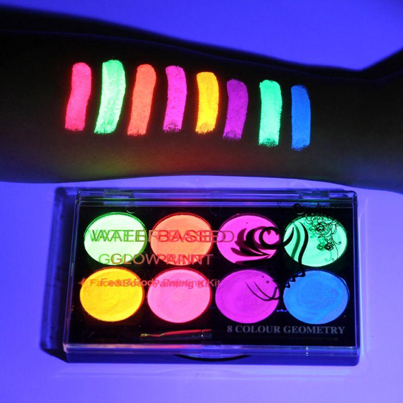 1 коробка для рисования пигмента водорастворимые нетоксичные краски для тела макияж краска для лица ing Kit с кисточкой