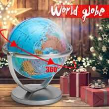 18cm Terrestrial World Globe Earth Ocean Map With Rotating Stand School Geography Educational Home Decoration Office Ornament
