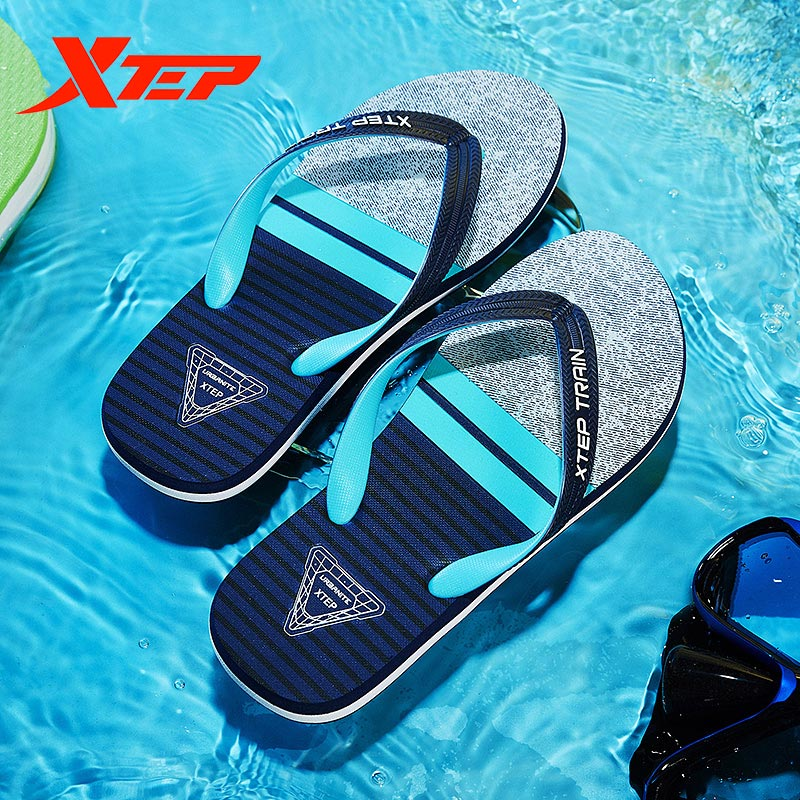 Xtep men's sandals spring and summer comfortable casual beach shoes sports outdoor sandals and slippers 880239800036