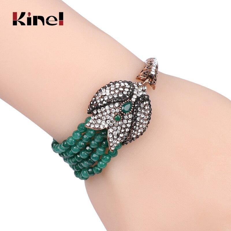 Kinel charme Boho Bracelets pierre naturelle fait à la main perles Bracelet pour femmes ethnique Vintage mariage bijoux cristal cadeau 2019