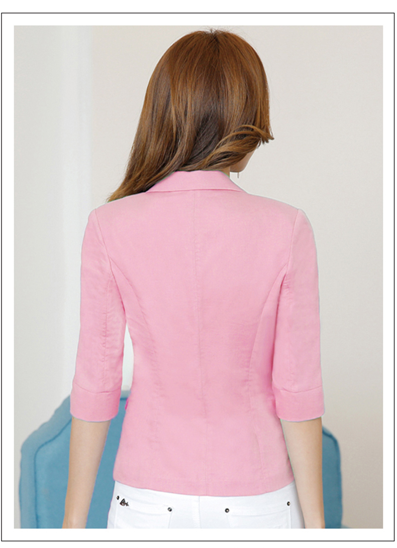 New Plus Size Womens Business Suits Female Linen Blazers Casual Jackets Short Slim Fit Blazer Women Suit Work Waer LX140
