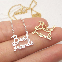 Double names necklace Stainless steel Best friendnecklace for Friends Silver Gold Color Chain Statement Jewelry collar mujer