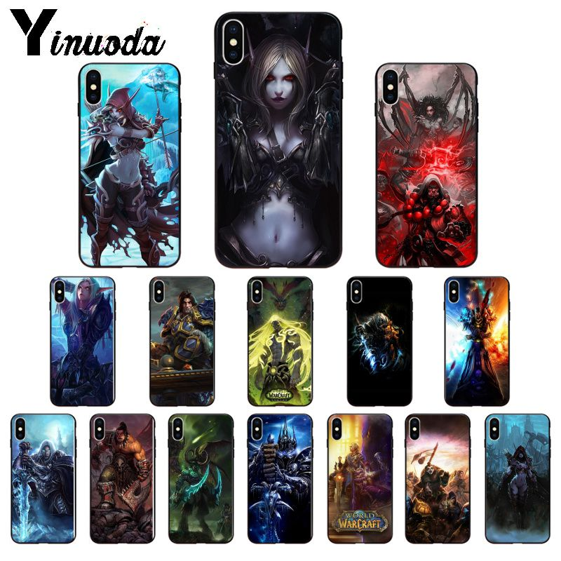 Yinuoda WOW World of Warcraft TPU Soft Silicone Phone Case Cover for Apple iPhone 8 7 6 6S Plus X XS MAX 5 5S SE XR Cellphones